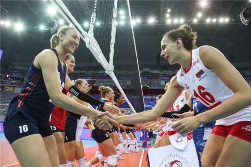 Serbie USA VNL 2018 x