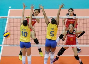 Chine Brésil 3ème place VNL 2018 1