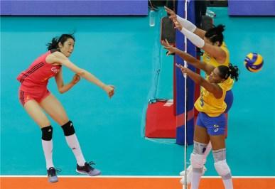 Chine Brésil 3ème place VNL 2018 3