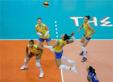 Chine Brésil 3ème place VNL 2018 4