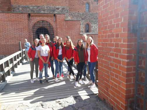 Avec Alice Constant, à Château de Trakai.FVWB 2018