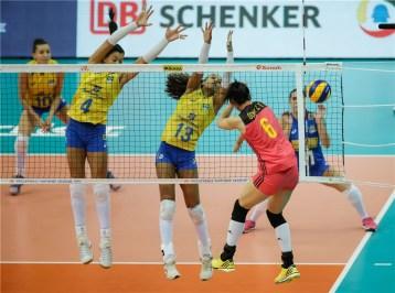 Chine Brésil 3ème place VNL 2018 5