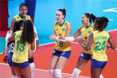 Femmes Volley Brésil Nianjin