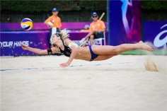 Germany's Laura Ludwig in action