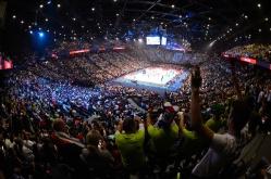 29.09.2019, Accor Hotels Arena, Paris Volleyball, Europameisterschaft, Finale, Serbien (SRB) vs. Slowenien (SLO) Foto: Conny Kurth / www.kurth-media.de